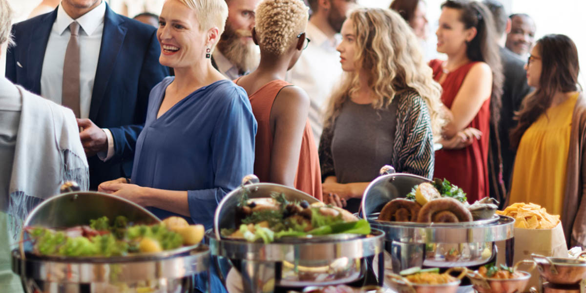 inexpensive event food menus